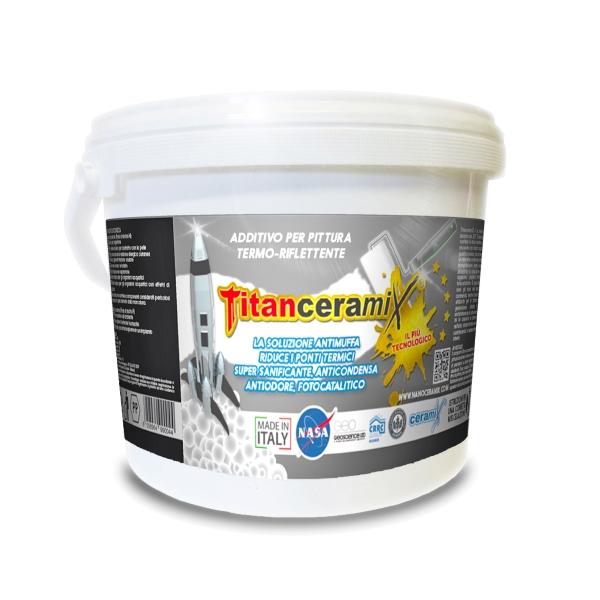 Pitture Fotocatalitiche Per Interni.Titanceramix Additivo Termo Riflettente Antimuffa Antiodore Sanificante Fotocatalitico Ediltermika